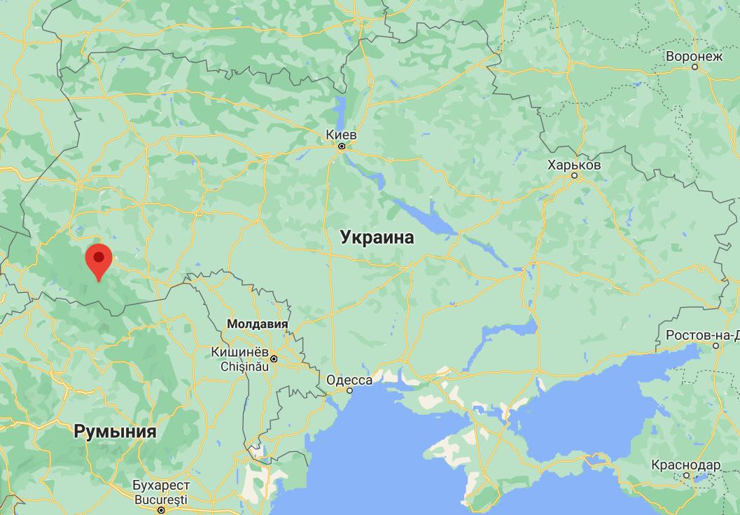 Ворохта на карте Украины.