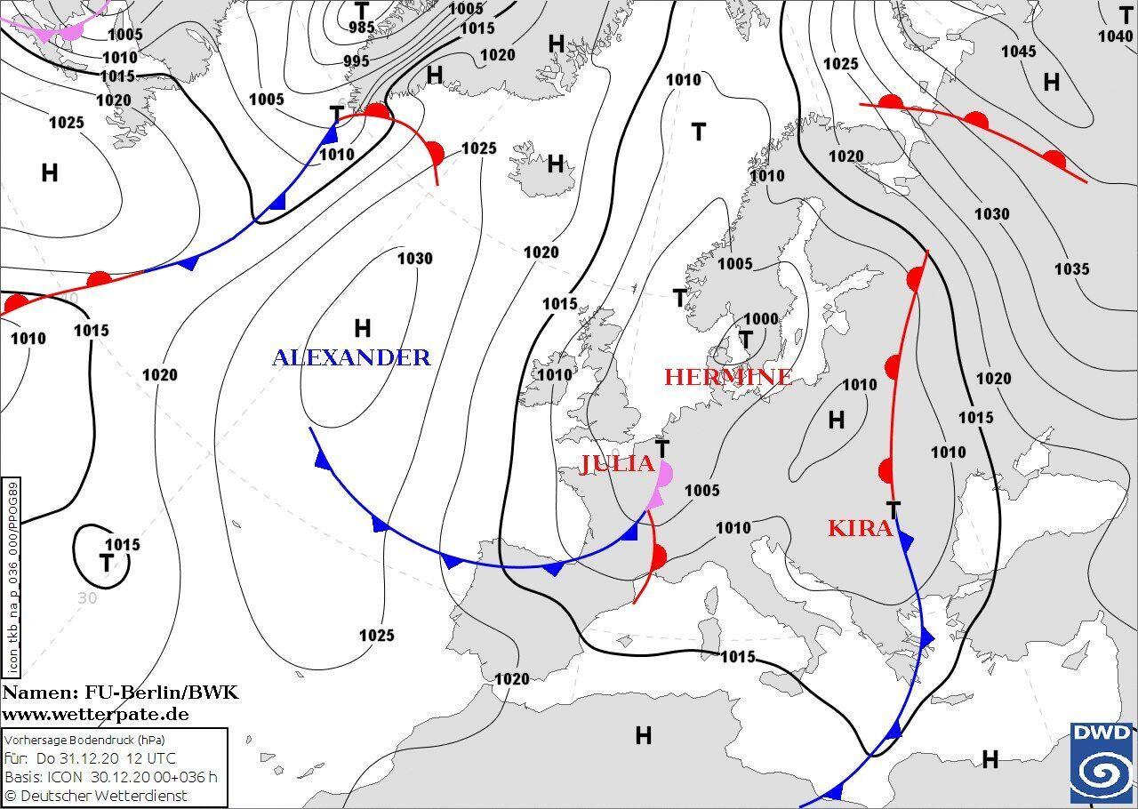 Погода в Украине 31 декабря и 1 января