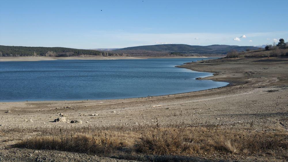 Симферопольское водохранилище в феврале