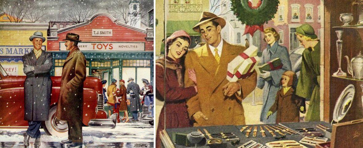 Рождество и Новый год в США в 50-х