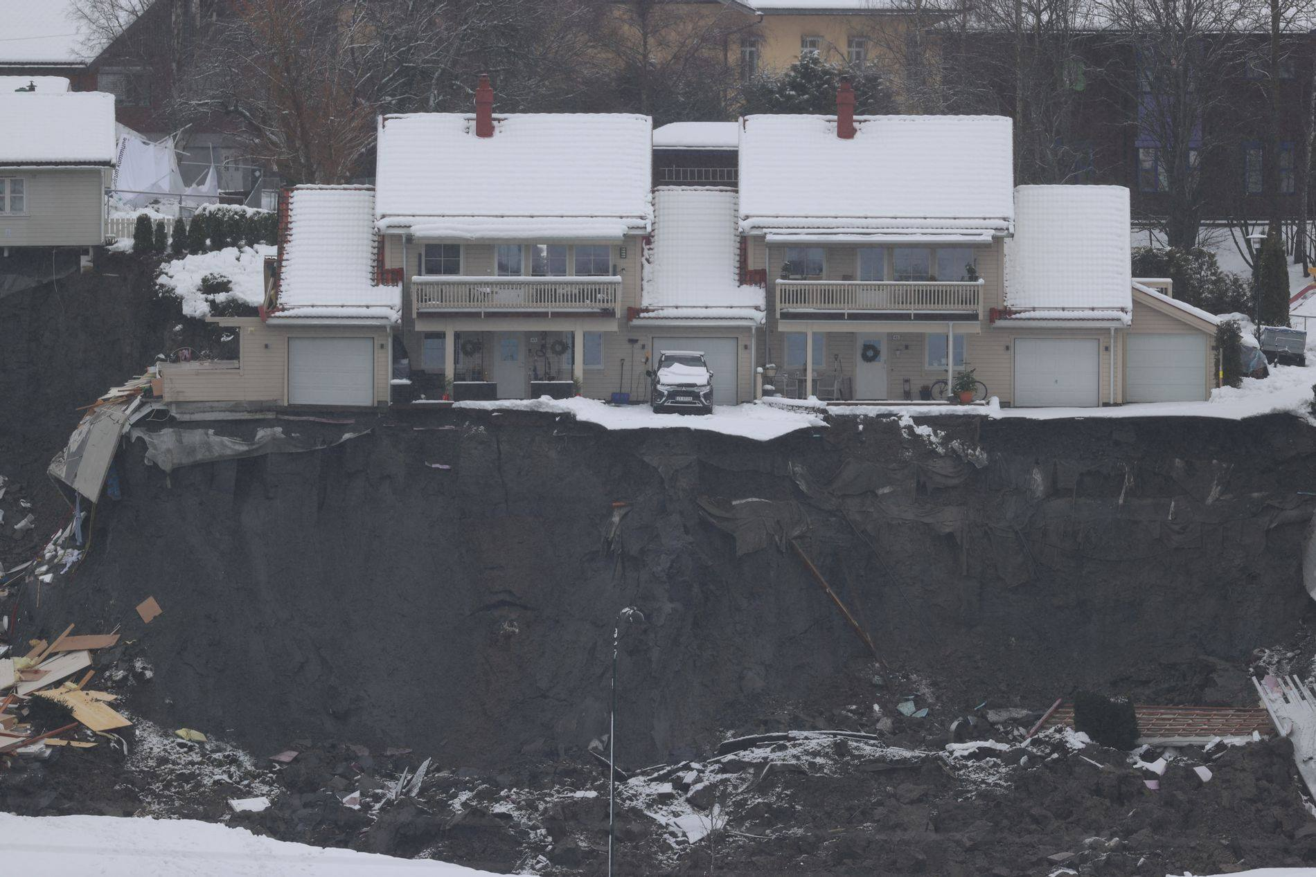 Несколько домов разрушило
