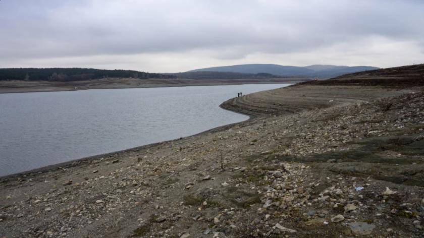 Симферопольское водохранилище в декабре