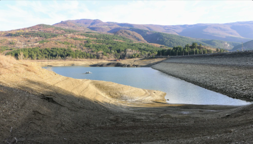 Счастливенское водохранилище, ноябрь-2020