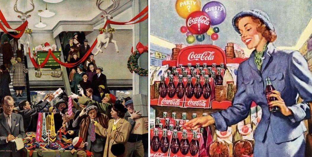 Рождество, США, 1950-е