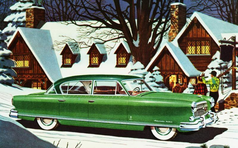Новогодняя открытка, США, 50-е