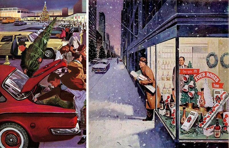 Рождественские праздники, США, 1950-е