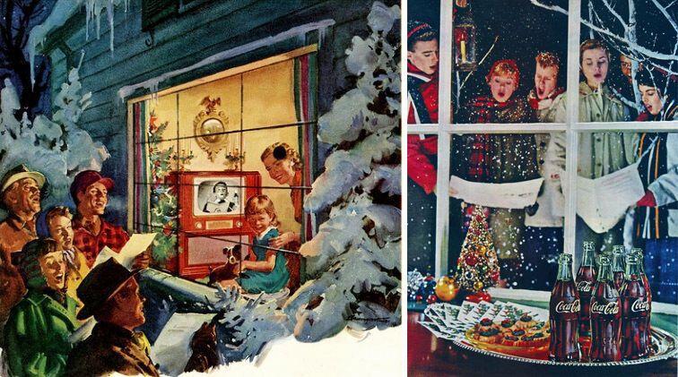 Празднование Рождества в США в 50-х