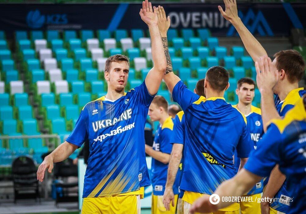 Сборная Украины по баскетболу перед матчем отбора на Евробаскет-2022