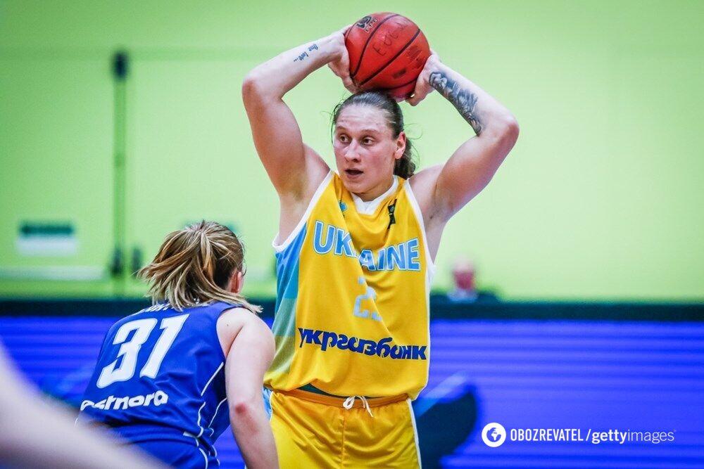 Алина Ягупова в составе женской сборной Украины