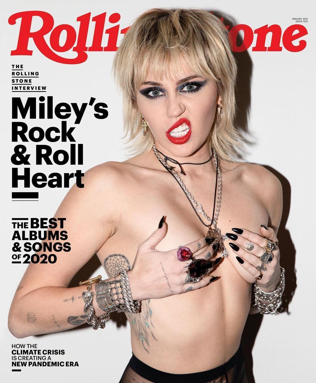Майли Сайрус на обложке журнала Rolling Stone