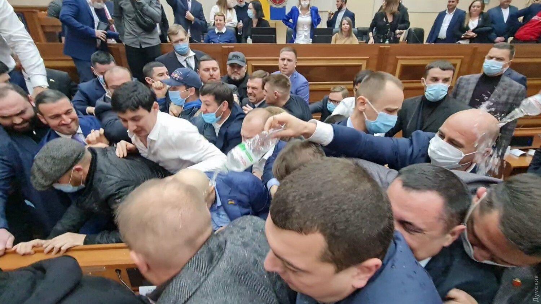 Побоище в Одесском облсовете