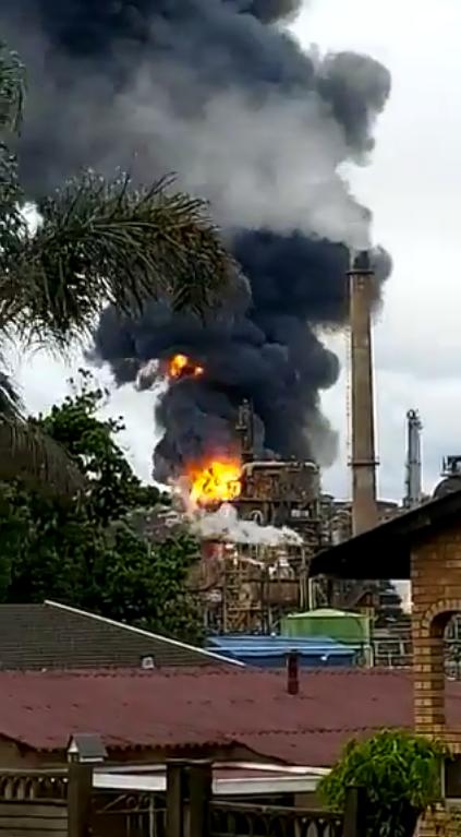 Вибух і пожежа на заводі Engen