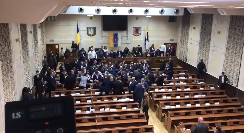 Драка одесских депутатов
