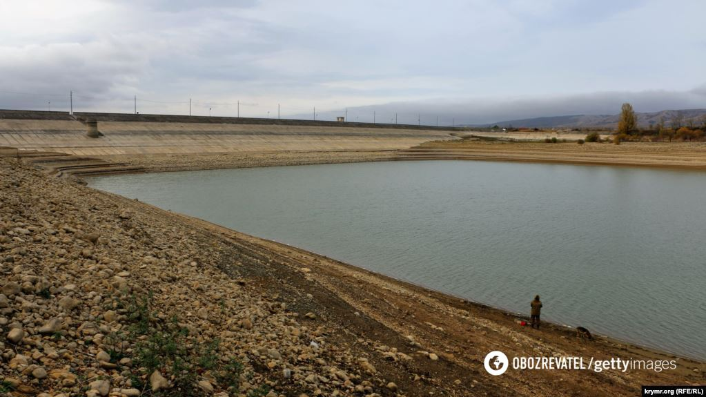 Аянское водохранилище в оккупированном Крыму