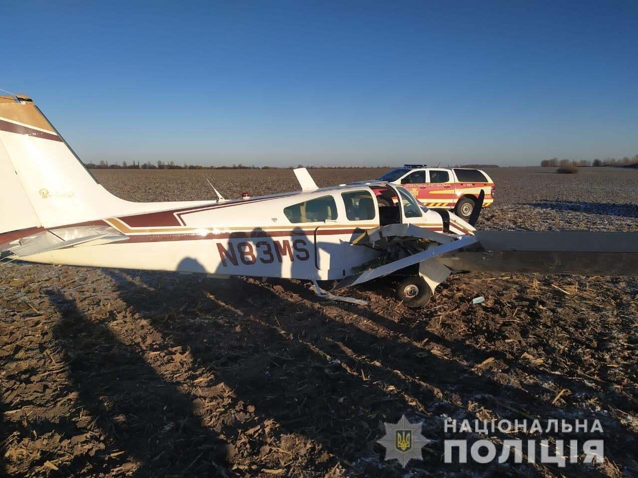 На Київщині впав літак