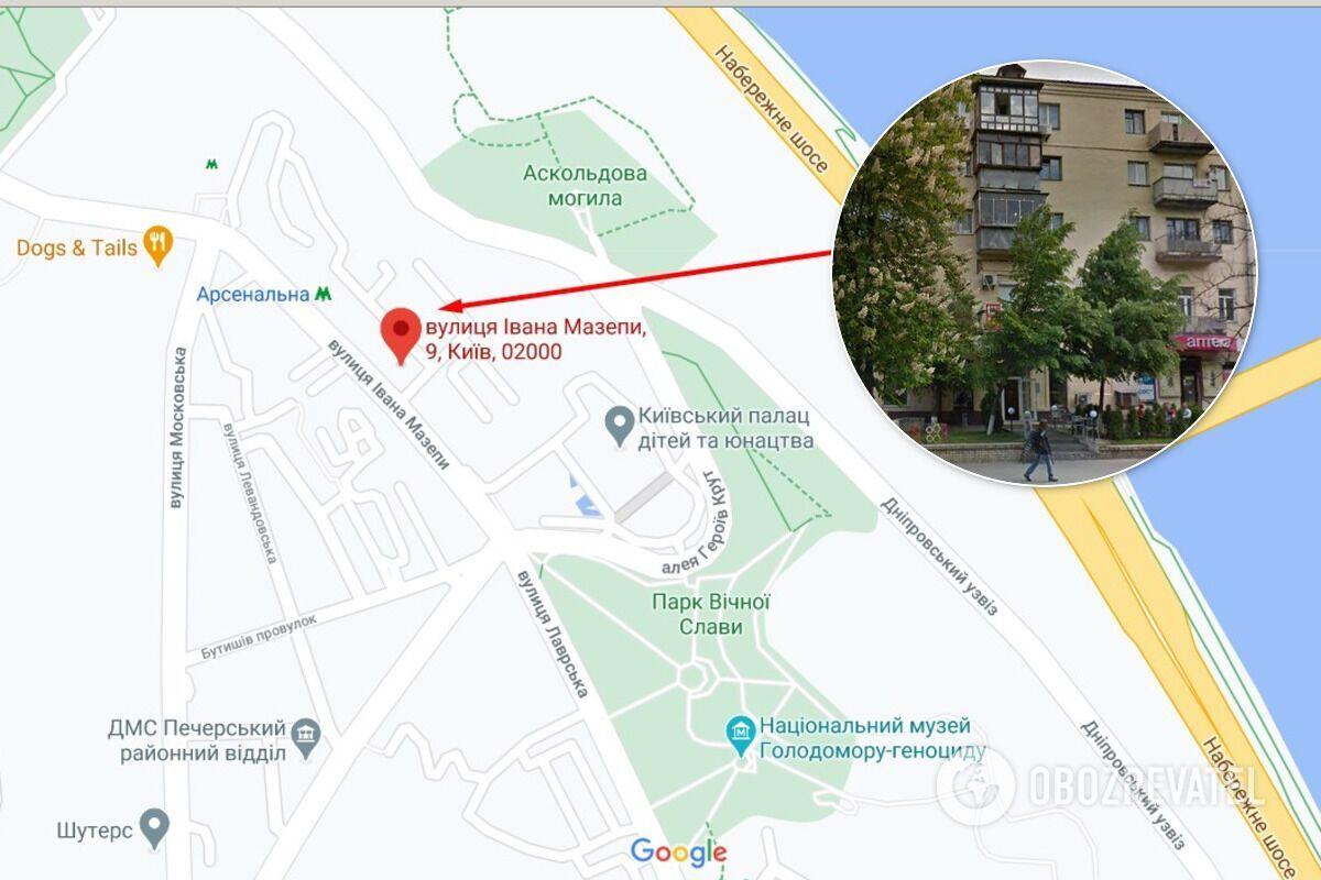 Будинок, де жив Олександр Дерев'янко і де його вбили