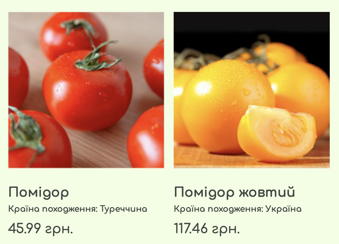 Цены на помидоры