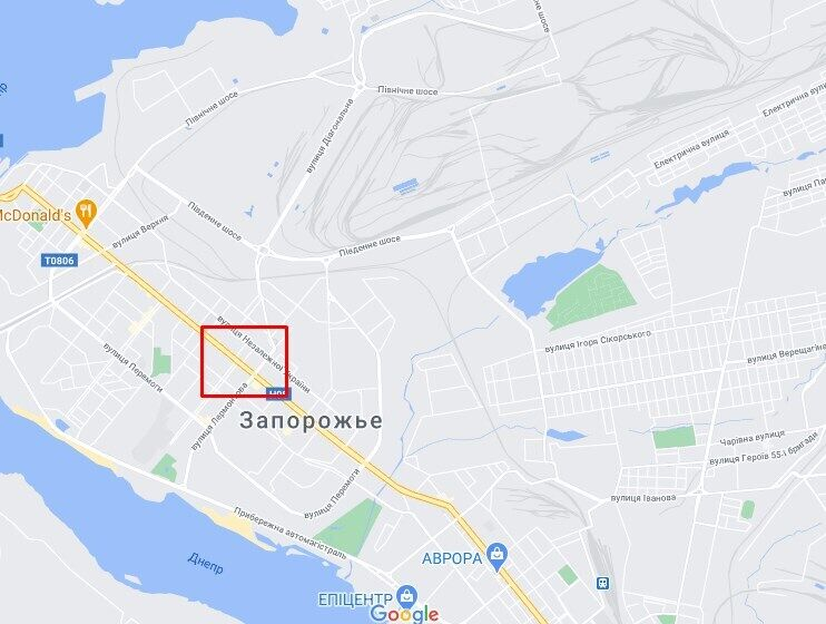 Інцидент стався на вулиці Незалежної України, недалеко від площі Маяковського.