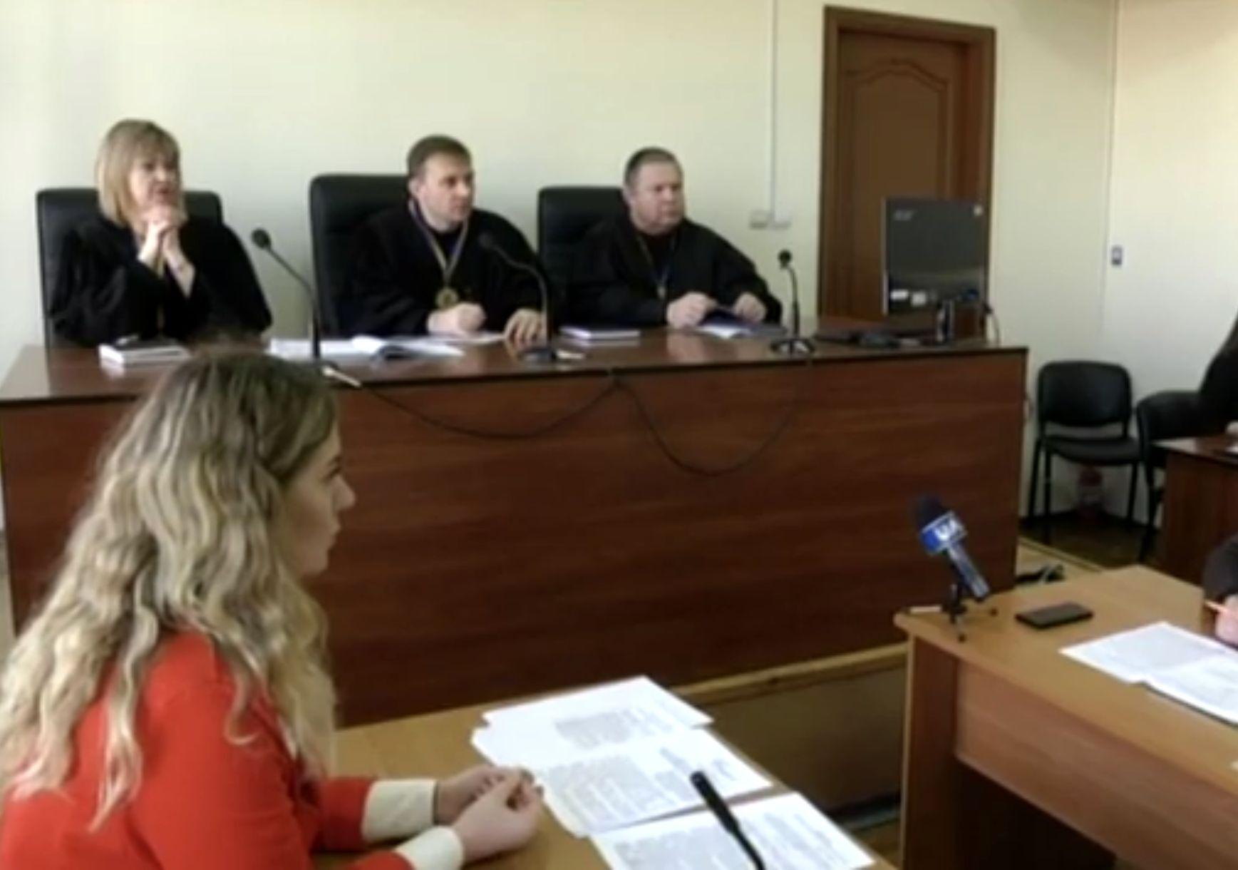 Прокурор Галина Рекуненко на одном из судебных заседаний.