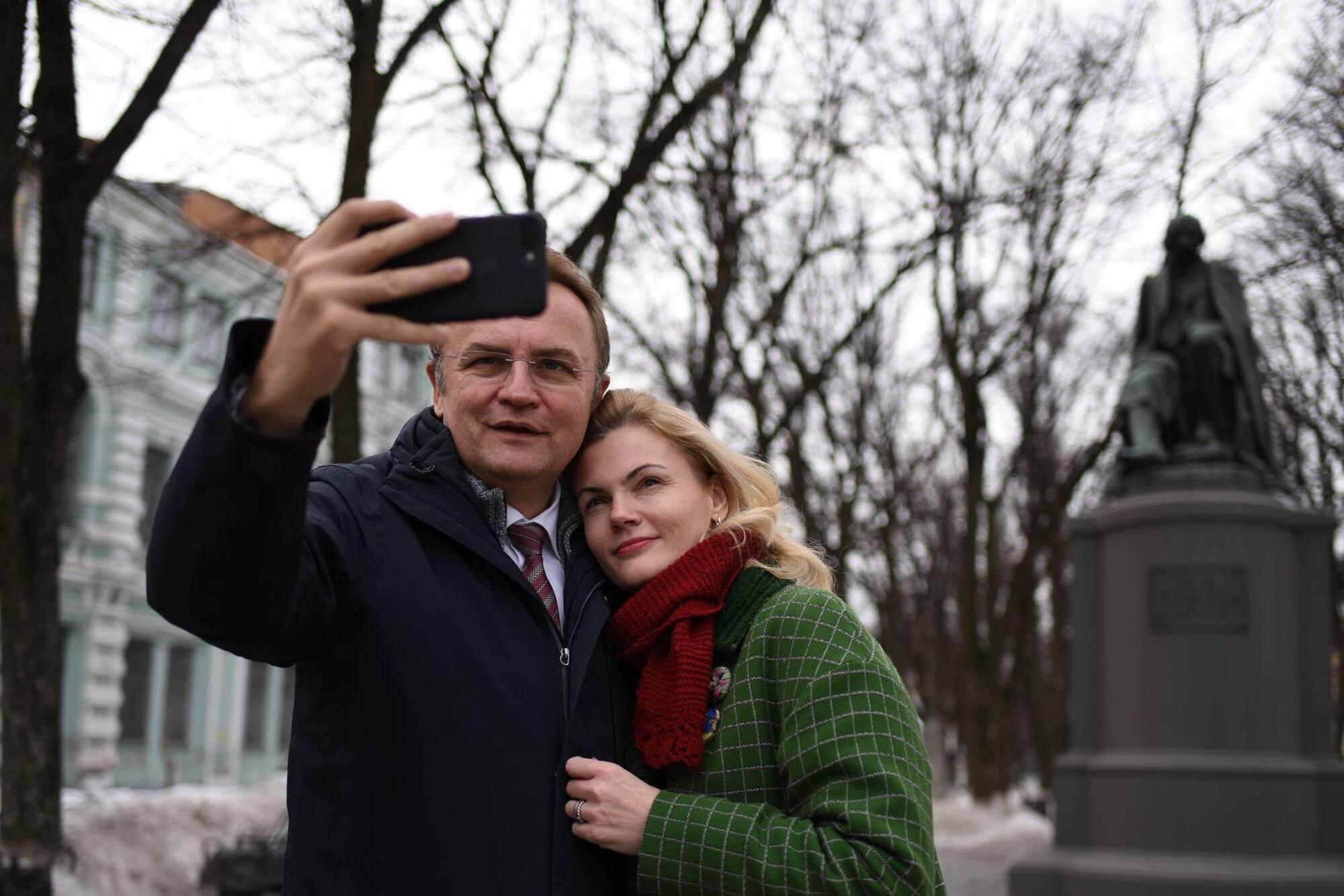 Андрій Садовий з дружиною Катериною.