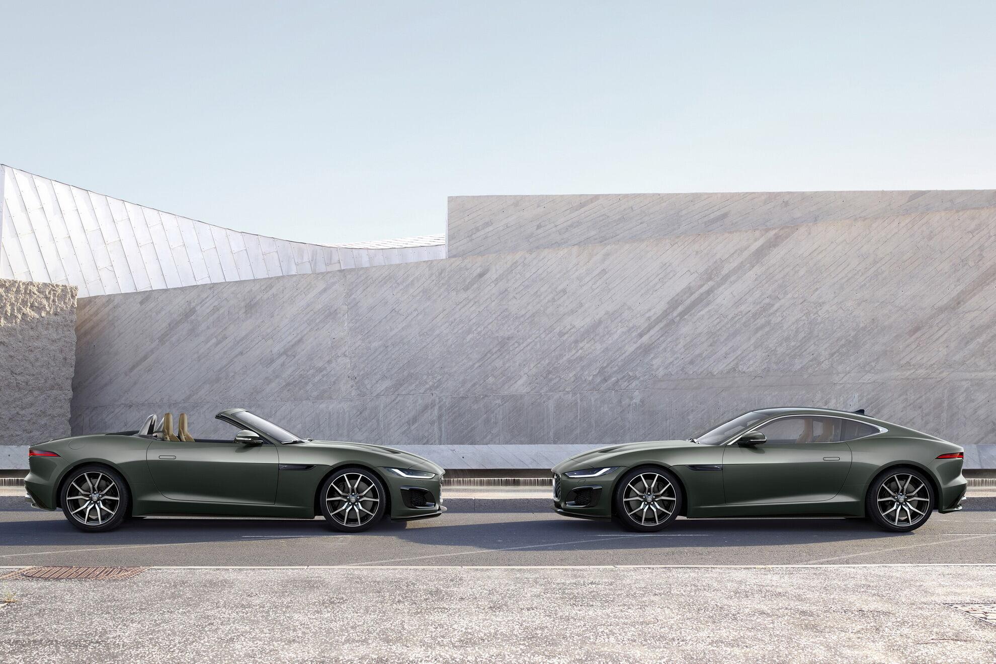 Покупцям будуть доступні як купе, так і кабріолети F-Type Heritage 60 Edition