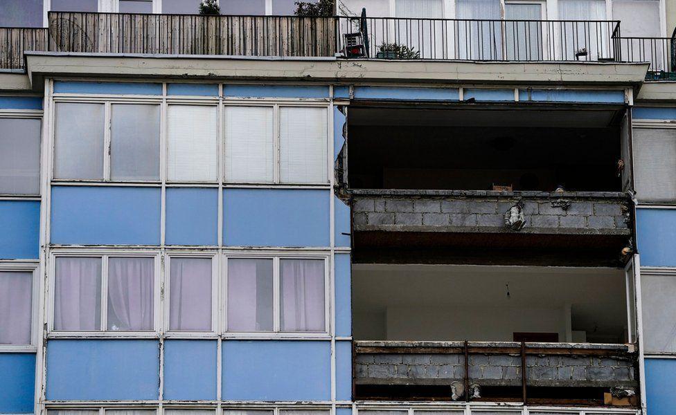 Вітер пошкодив частину житлового будинку в Брюсселі