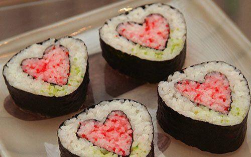 Суші в День святого Валентина