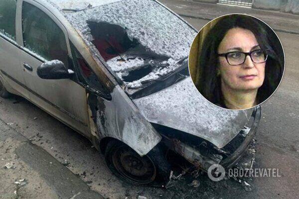 Підпалене авто журналістки Галини Терещук