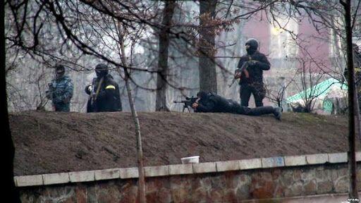 """20 февраля 2014 года. """"Беркутовцы"""" расстреливают протестующих"""