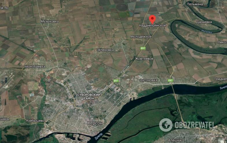 Авария произошла возле поселка Надднепрянское