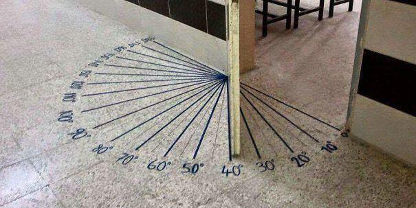 Біля дверей в клас математики