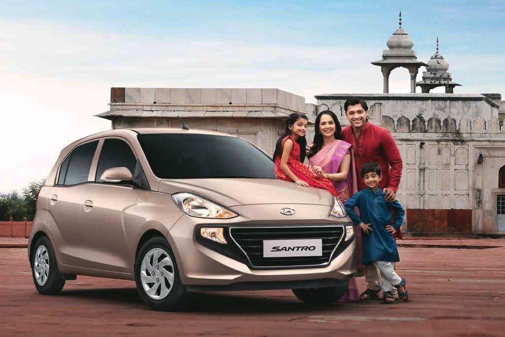 Компактний хетчбек Hyundai Santro для індійського ринку