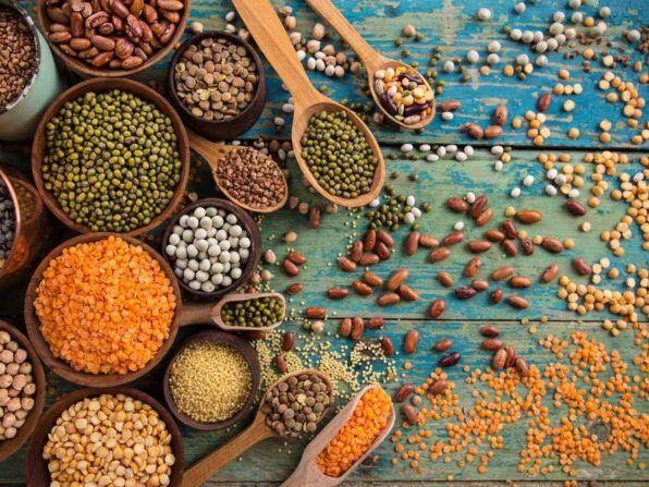 Бобовые содержат полезные белок и клетчатку