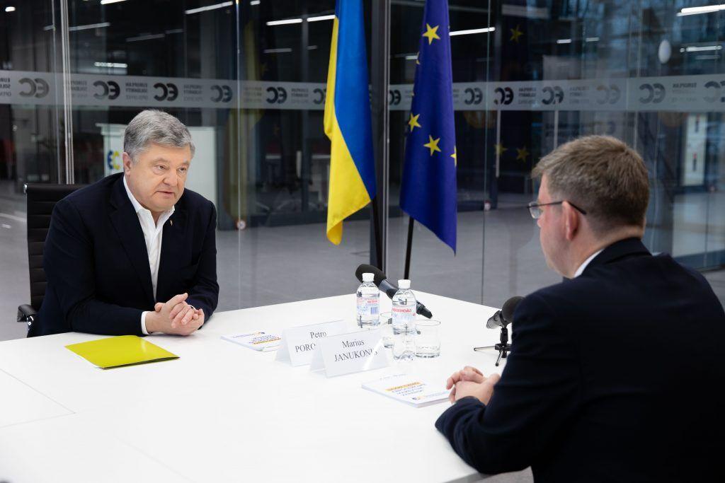 Петро Порошенко провів зустріч із послом Литви в Україні Марюсом Януконісом