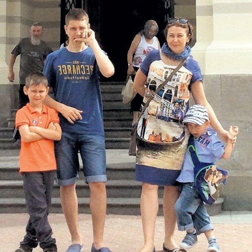 Ірина Степанова з синами
