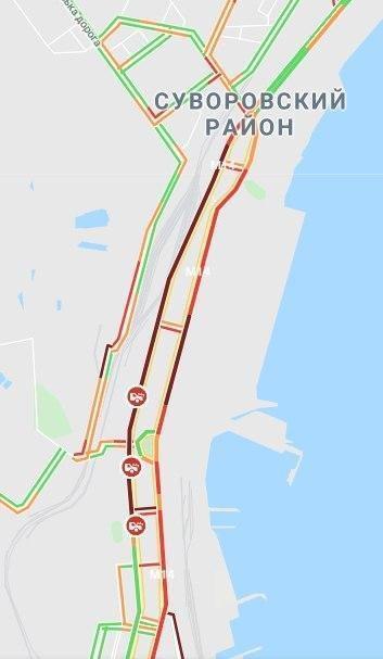 Через декілька ДТП в Одесі утворилися гігантські пробки