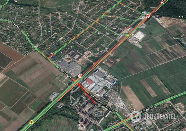 ДТП произошло на перекрестке Чабаны - Гатное