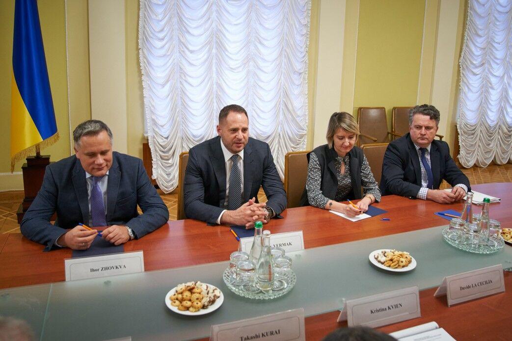 Ермак на встрече с послами G7