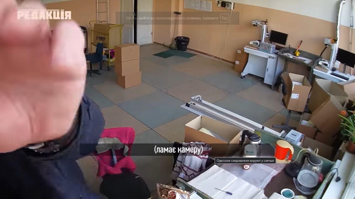 Одесские копы обокрали офис во время обыска