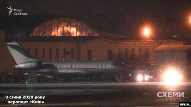 """9 января около трех ночи журналисты зафиксировали, что самолет из Омана совершил посадку в аэропорту """"Киев"""""""