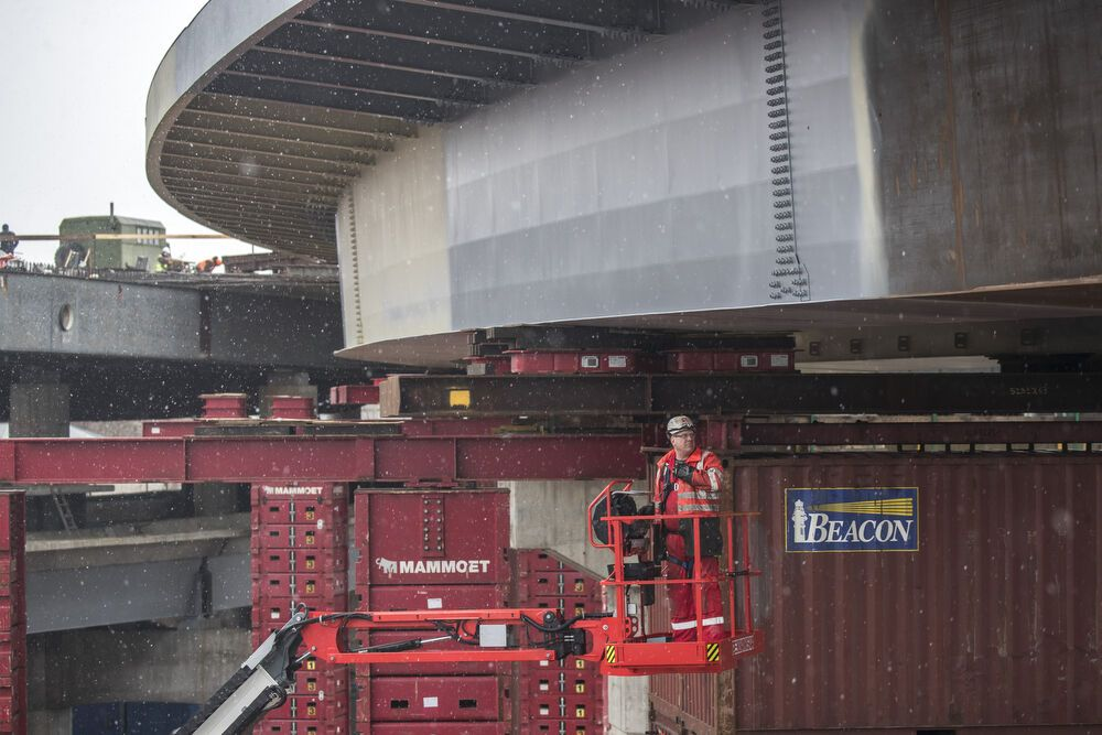 Откроют до конца года: Кличко показал, как строят Подольско-Воскресенский мост