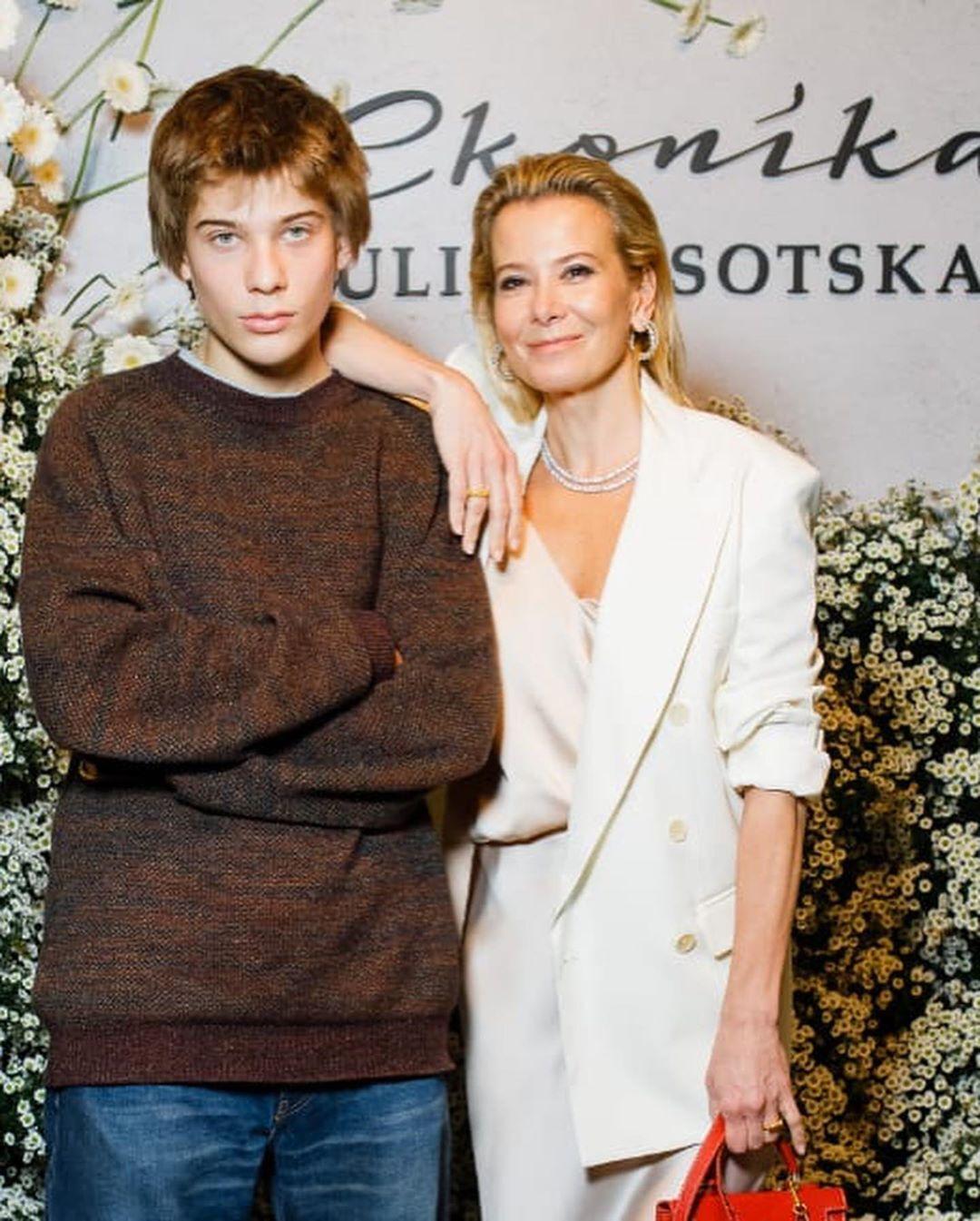 Юлія Висоцька з сином Петром