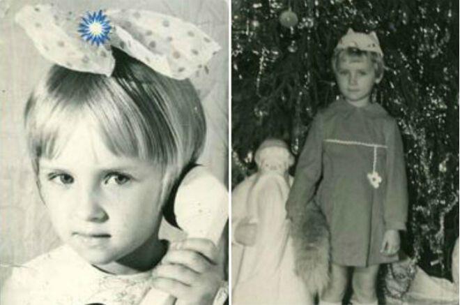 Олена Ксенофонтова в дитинстві