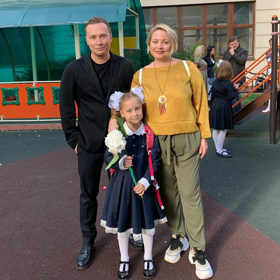 Світлана Пермякова з сім'єю