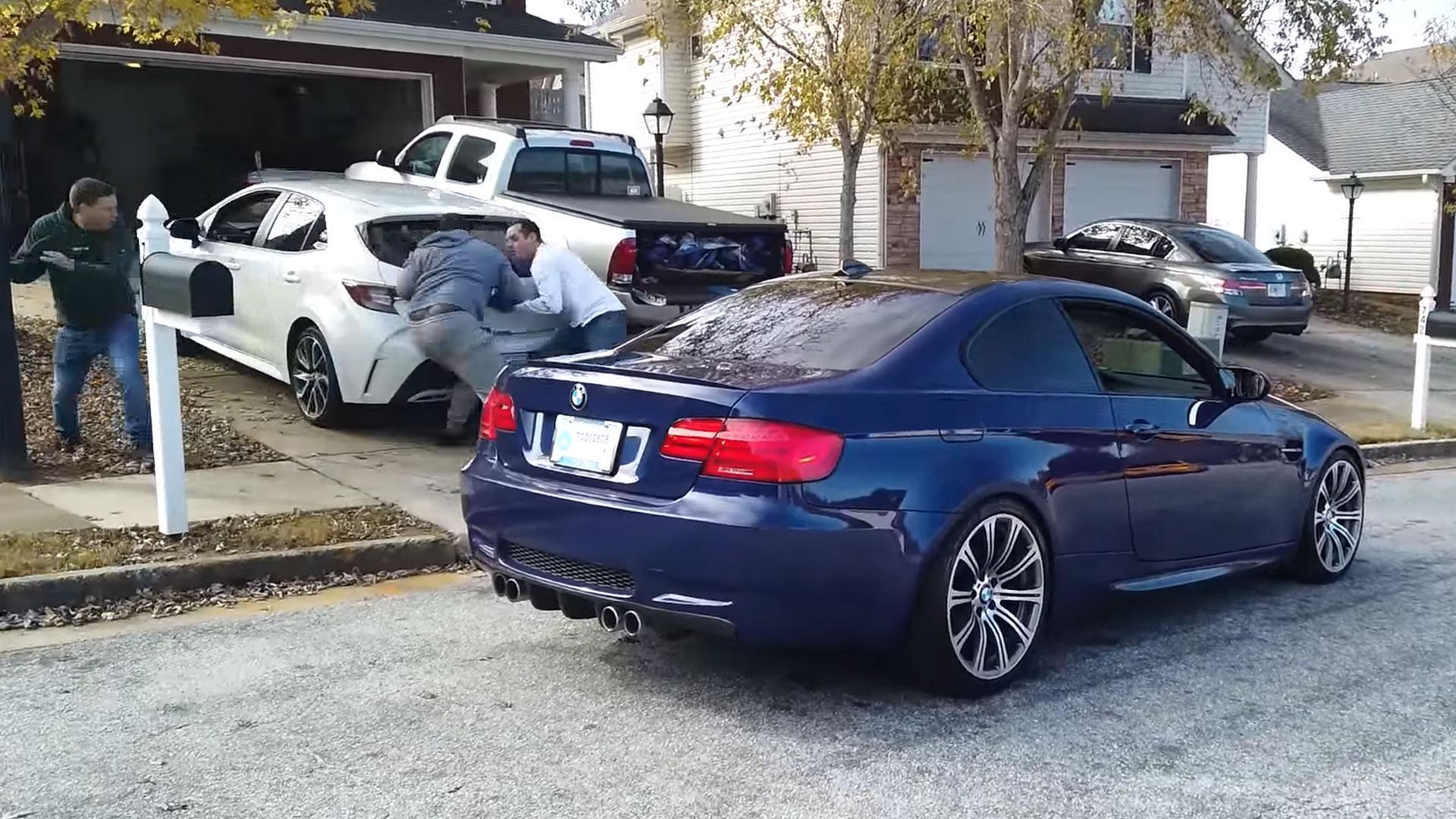 BMW M3 за мить до аварії