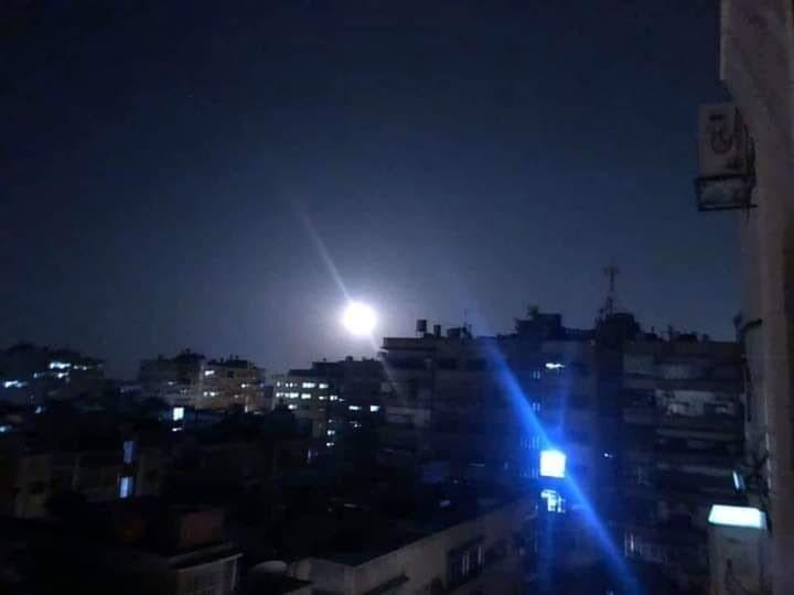 Удар по Дамаску 13 февраля