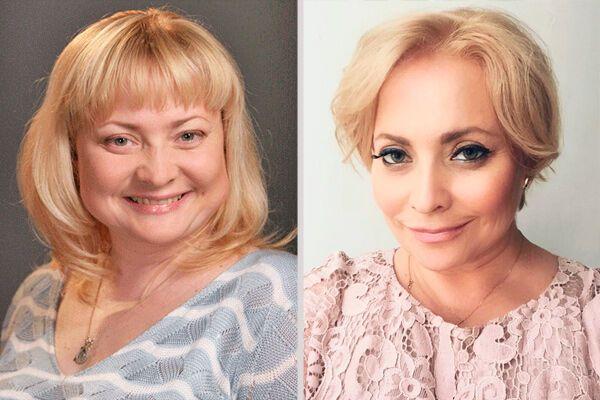 Світлана Пермякова до і після схуднення