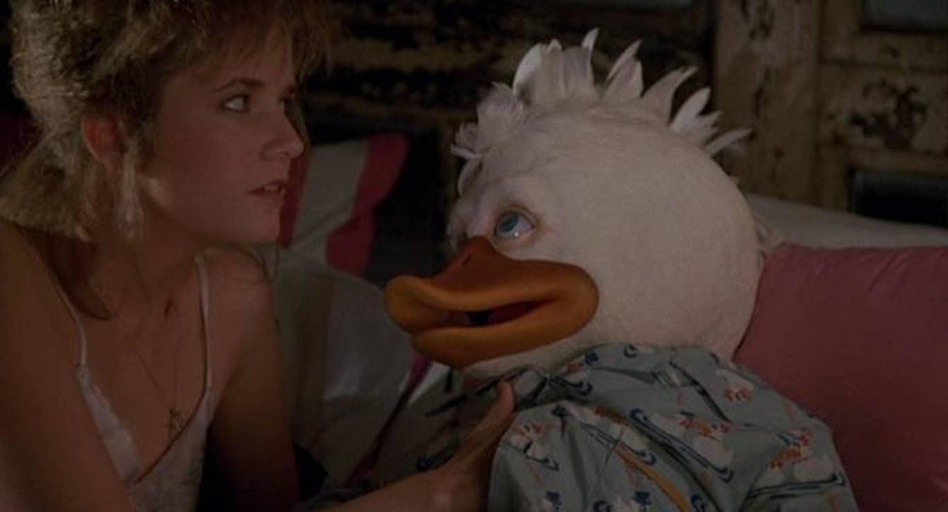 """Кадр из фильма """"Говард-утка"""""""