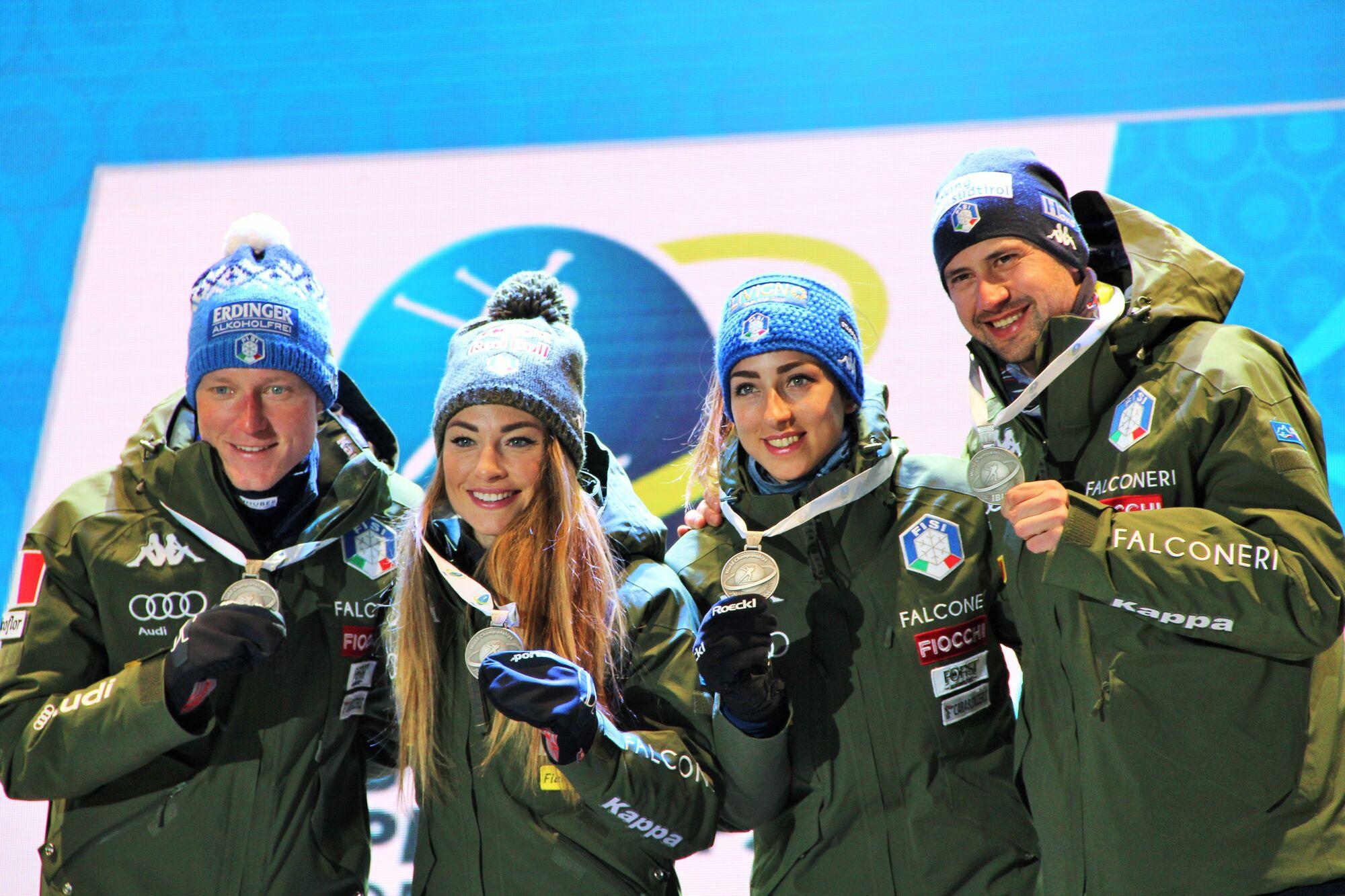 Италия прогнозируемо сумела без проблем взять медали эстафеты