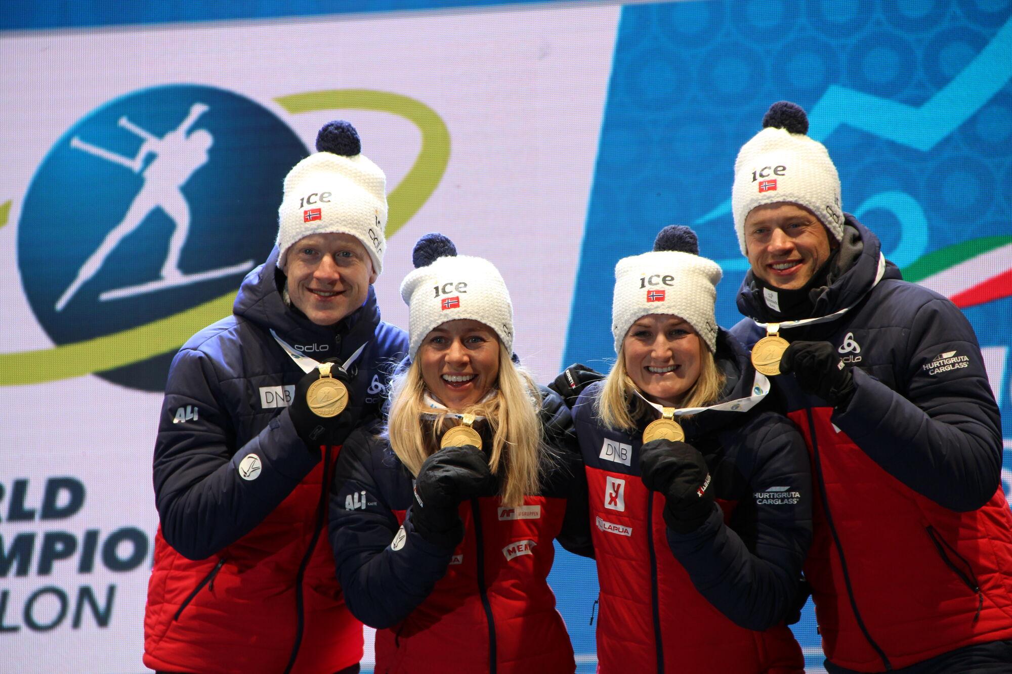 Норвегия на одном дыхании взяла первое золото ЧМ